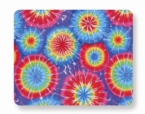 Tie dye mouse pad